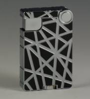 Cross Over Lighter - Black Silver