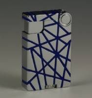 Cross Over Lighter - Chrome Silver w/ Blue